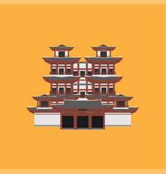 flat building of republic of singapore travel vector image