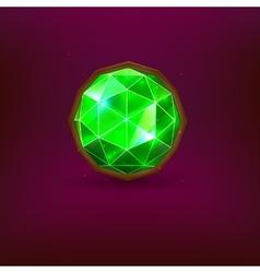 Green gem vector image