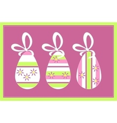Holiday gift egg in color 11 vector image