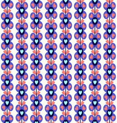 pattern with cute flowers vector image vector image