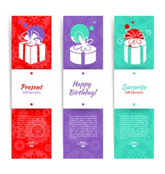 Present backgrounds with gift box vector image vector image