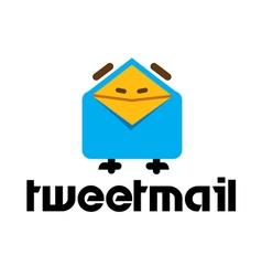 Tweet Mail Design vector image