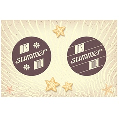 Two round emblems designed for summer vector image
