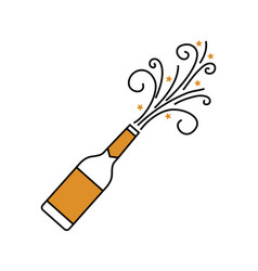 champagne bottle explosion drink celebration vector image vector image