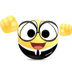 Confidence Office worker Emoticon vector image