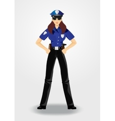 policewoman or cop woman in uniform vector image vector image