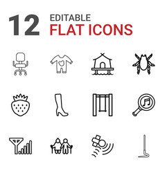 12 icons vector