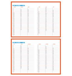 2017 year planner calendar template design print vector