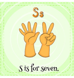A letter s for seven vector
