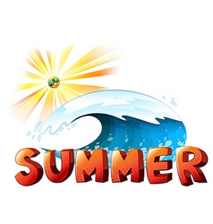 A summer artwork vector