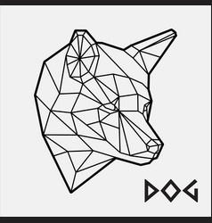 Abstract polygonal geometric head a dog vector