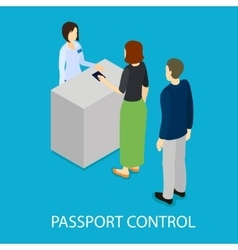 Airport Control Isometric Template vector
