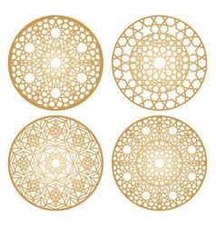 Arabic circle patterns vector