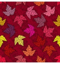 Autumn seamless leaf pattern 10 vector image
