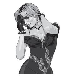 Beautiful girl vector