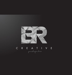 Br b r letter logo with zebra lines texture vector