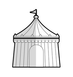Circus tent icon image vector