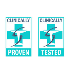 Clinically tested and proven tested stamp vector
