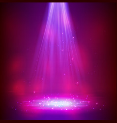Colourful glowing spotlights vector