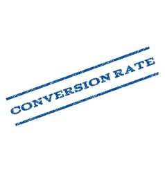 Conversion Rate Watermark Stamp vector