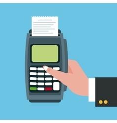 Dataphone and shopping design vector