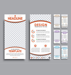Design white flyers size of mm vector
