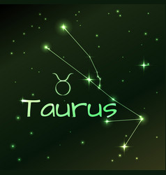 earth symbol of taurus zodiac sign horoscope vector image