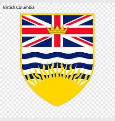 Emblem of british columbia province of canada vector