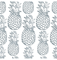 Exotic seamless pattern with silhouettes tropical vector image