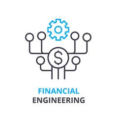 Financial engineering concept outline icon vector