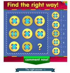 Find the missing item buttons 2 vector