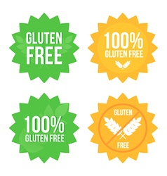 Gluten free tags stickers labels set collection vector