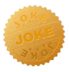 golden joke award stamp vector image