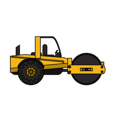 heavy construction machinery icon image vector image