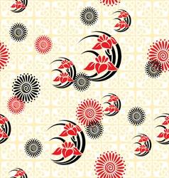 Japan floral background vector