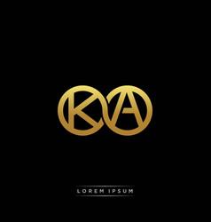 Ka initial letter linked circle capital monogram vector