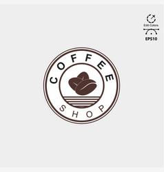 Logo design coffee shoop emblem style vector