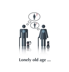 Lonely old age vector