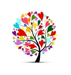 Love tree for your design vector