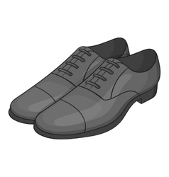 Men classic shoes icon gray monochrome style vector