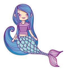Mermaid fantasy cartoon vector