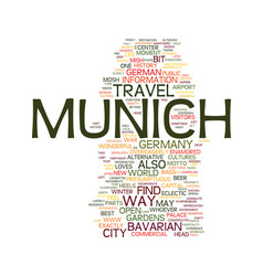 mnchen liebt dich and you will love it too travel vector image