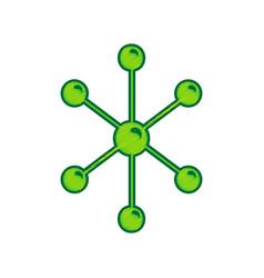 molecule sign lemon scribble vector image