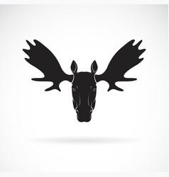 moose deer head design on white background wild vector image