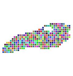 Multi colored dot ontario lake map vector