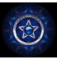 mystic blue star vector image