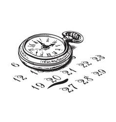 Old pocket watch vector