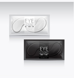 packages of hydrating under eye gel patches vector image