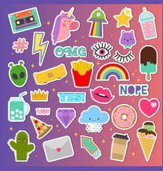 Patch stickers sticky patching badge or vector