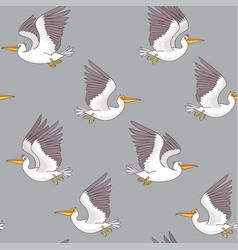 pelican seamless dark vector image